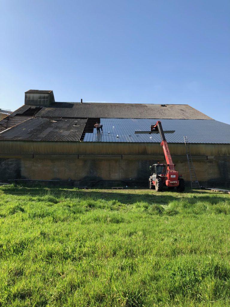 bâtiment agricole pendant