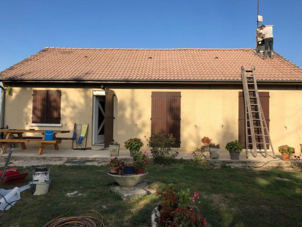 rénovation toiture avant
